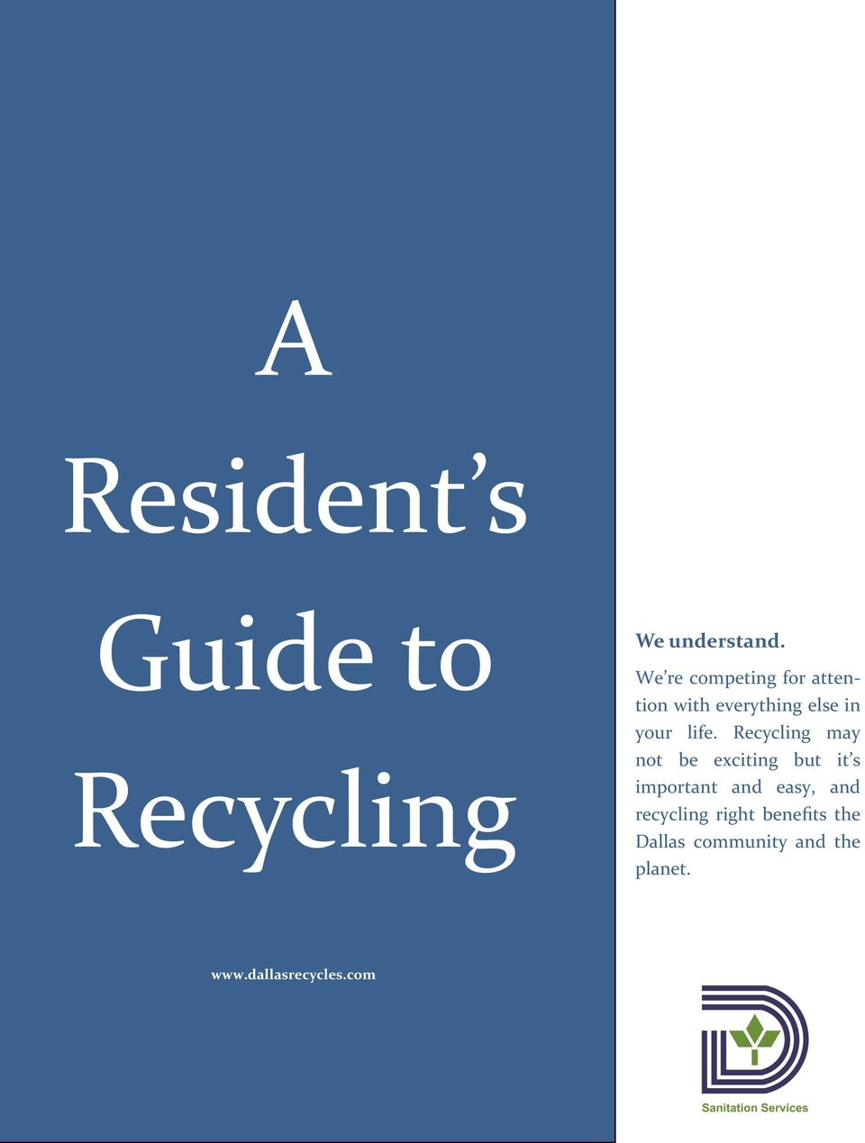 Recycling may not be exciting but it s important and easy, and