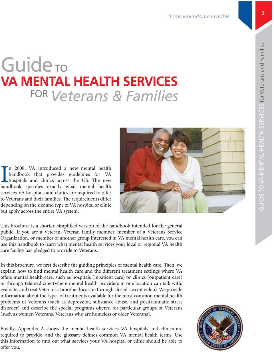 The new handbook specifies exactly what mental health services VA hospitals and clinics are required to offer to Veterans and their families.