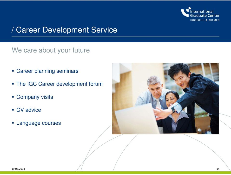 seminars The IGC Career development forum