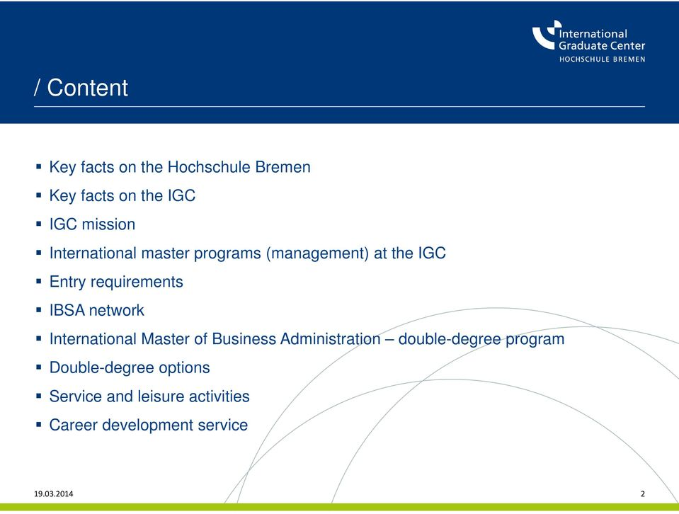 network International Master of Business Administration double-degree program