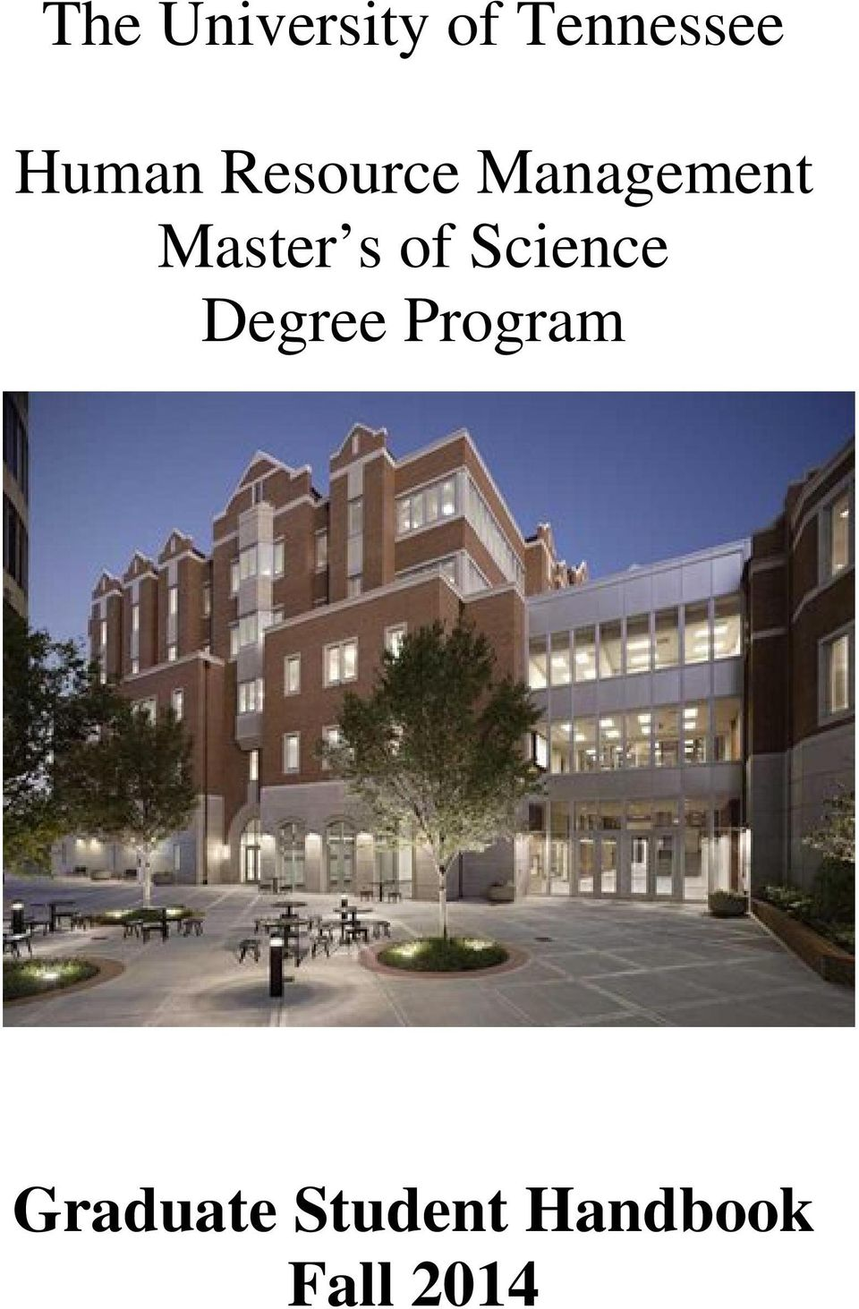 Master s of Science Degree