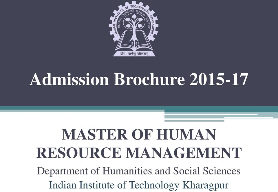 management Department of Humanities and