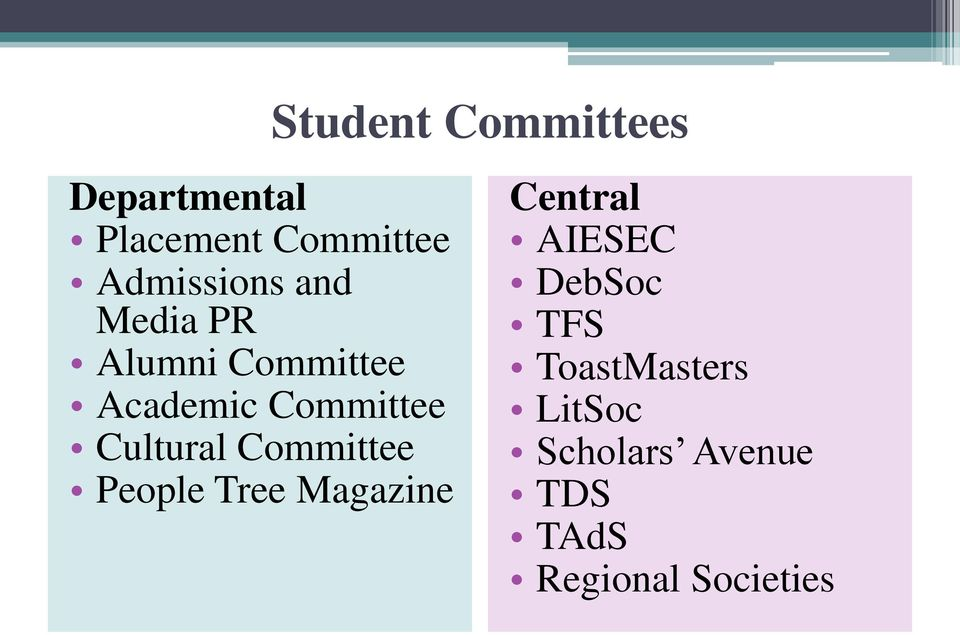 Cultural Committee People Tree Magazine Central AIESEC