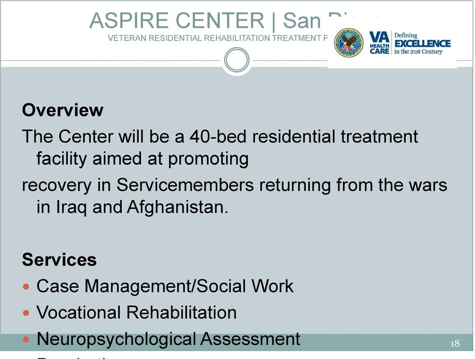 promoting recovery in Servicemembers returning from the wars in Iraq and
