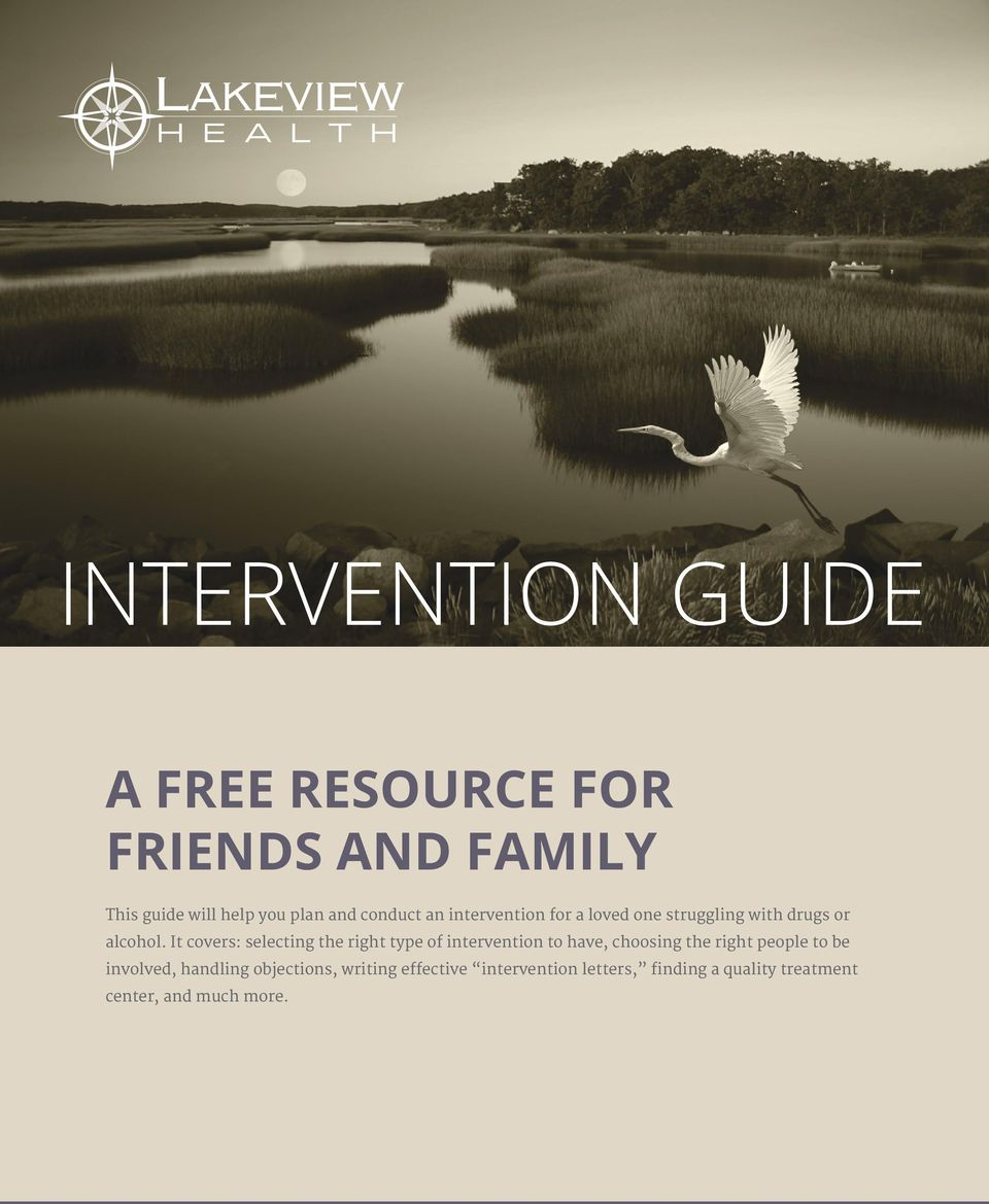It covers: selecting the right type of intervention to have, choosing the right people to be