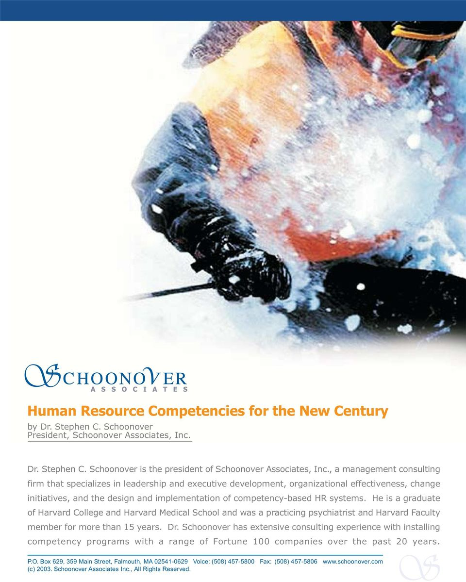 the design and implementation of competency-based HR systems.