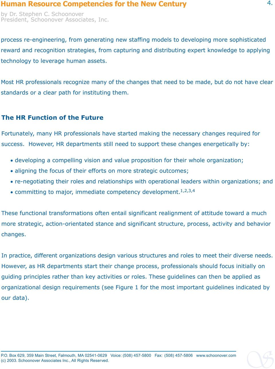 The HR Function of the Future Fortunately, many HR professionals have started making the necessary changes required for success.