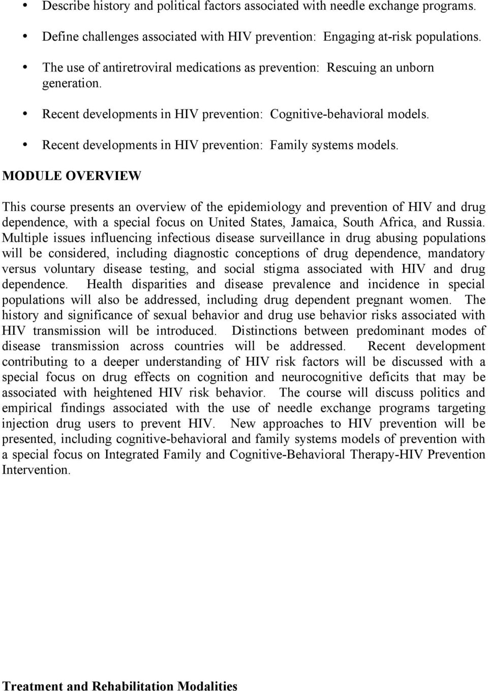Recent developments in HIV prevention: Family systems models.