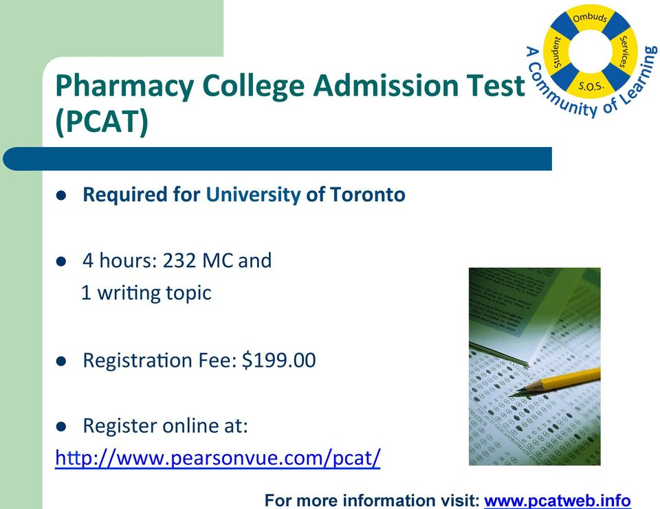 University of Toronto l 4 hours: 232 MC and 1 wrixng topic