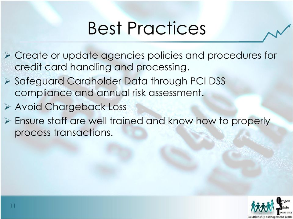 Safeguard Cardholder Data through PCI DSS compliance and annual risk