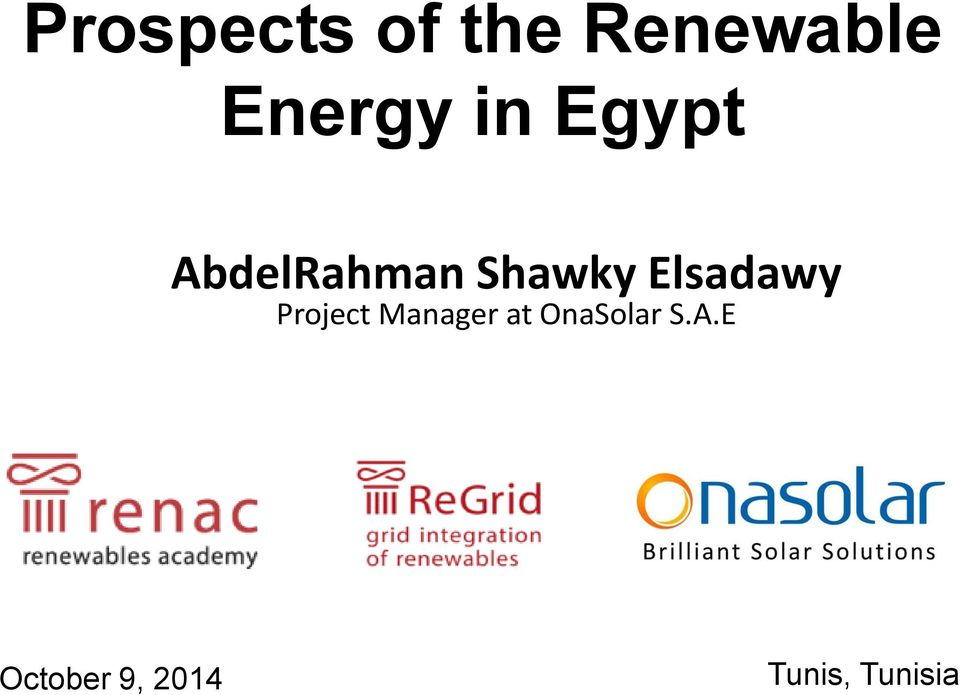 Elsadawy Project Manager at