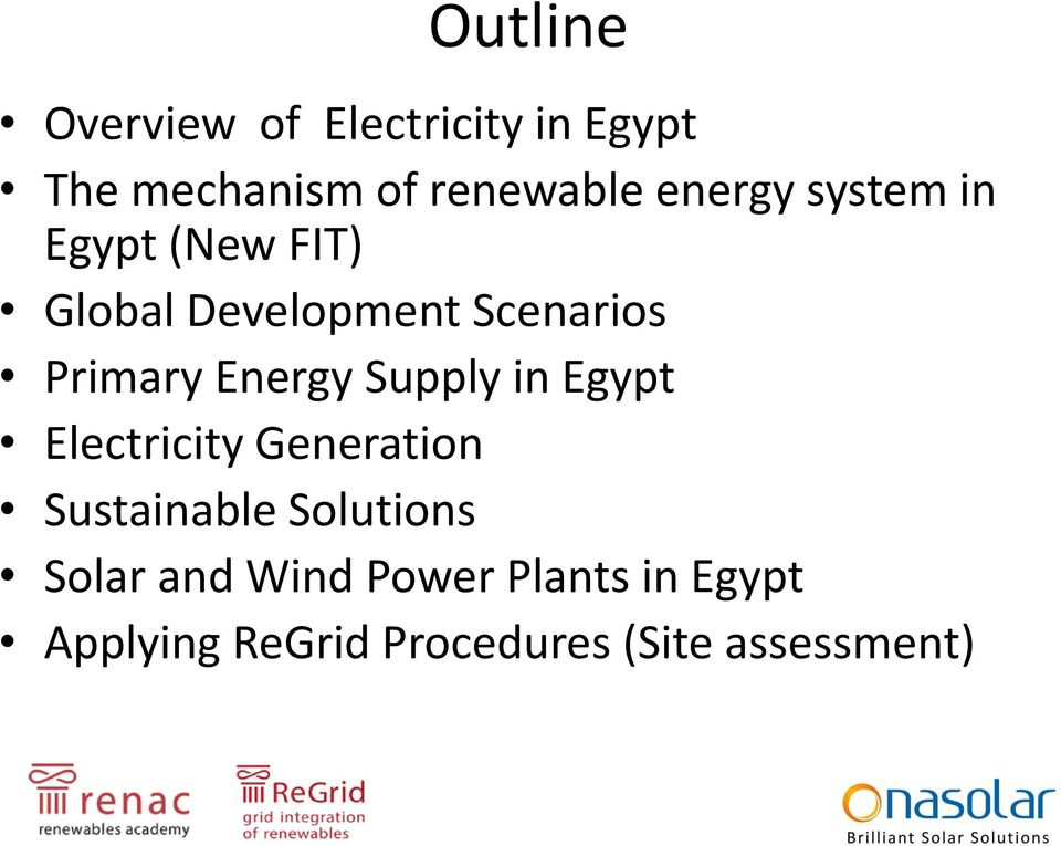 Energy Supply in Egypt Electricity Generation Sustainable Solutions