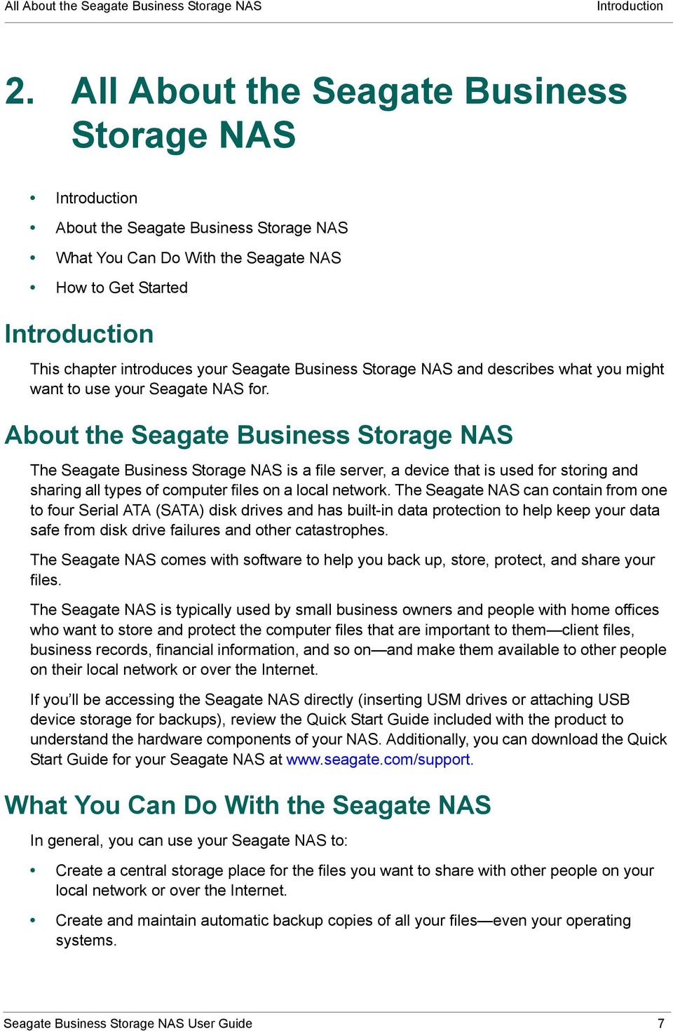 Seagate Business Storage NAS and describes what you might want to use your Seagate NAS for.