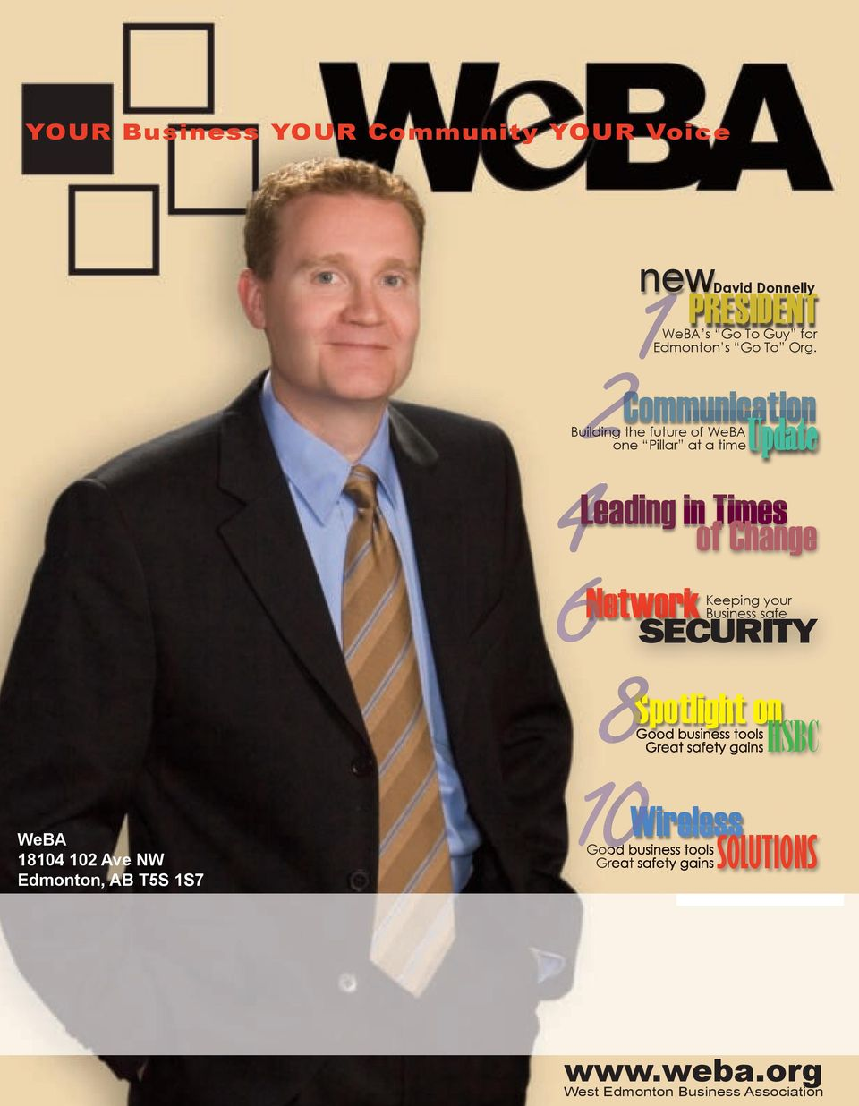 Business safe SECURITY Spotlight on Good business tools Great safety gains HSBC WeBA 18104 102 Ave NW Edmonton,