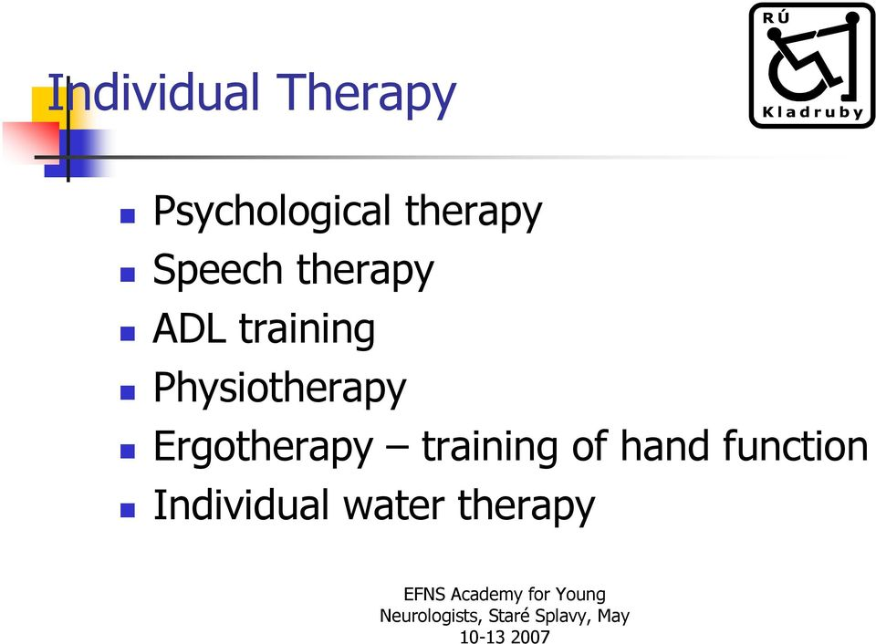 Physiotherapy Ergotherapy training