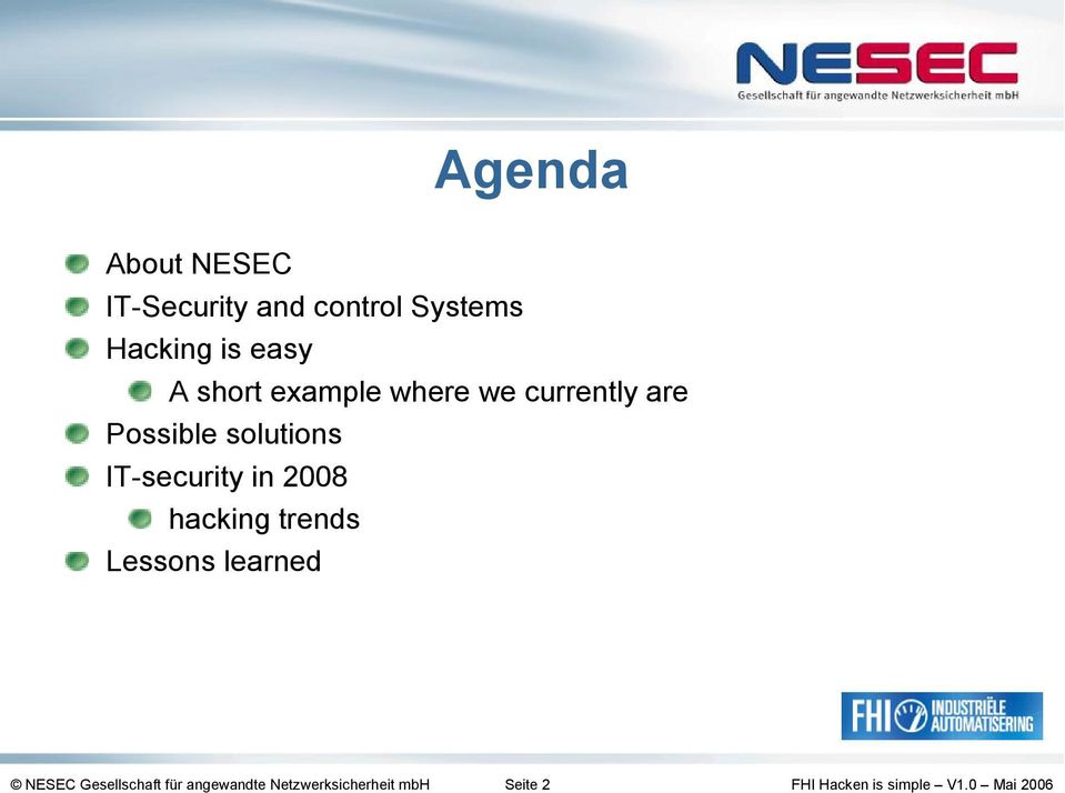 solutions IT-security in 2008 hacking trends Lessons
