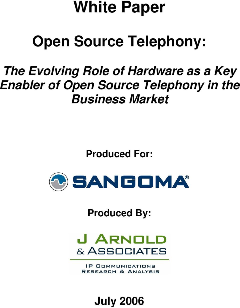 Enabler of Open Source Telephony in the