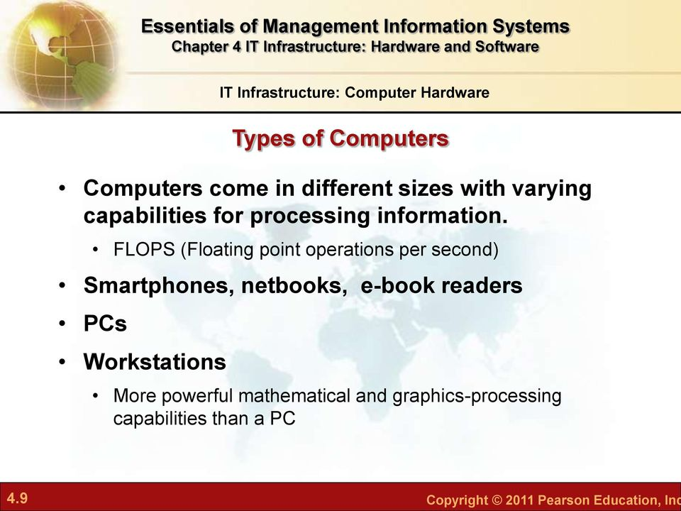 Workstations IT Infrastructure: Computer Hardware Types of Computers More powerful