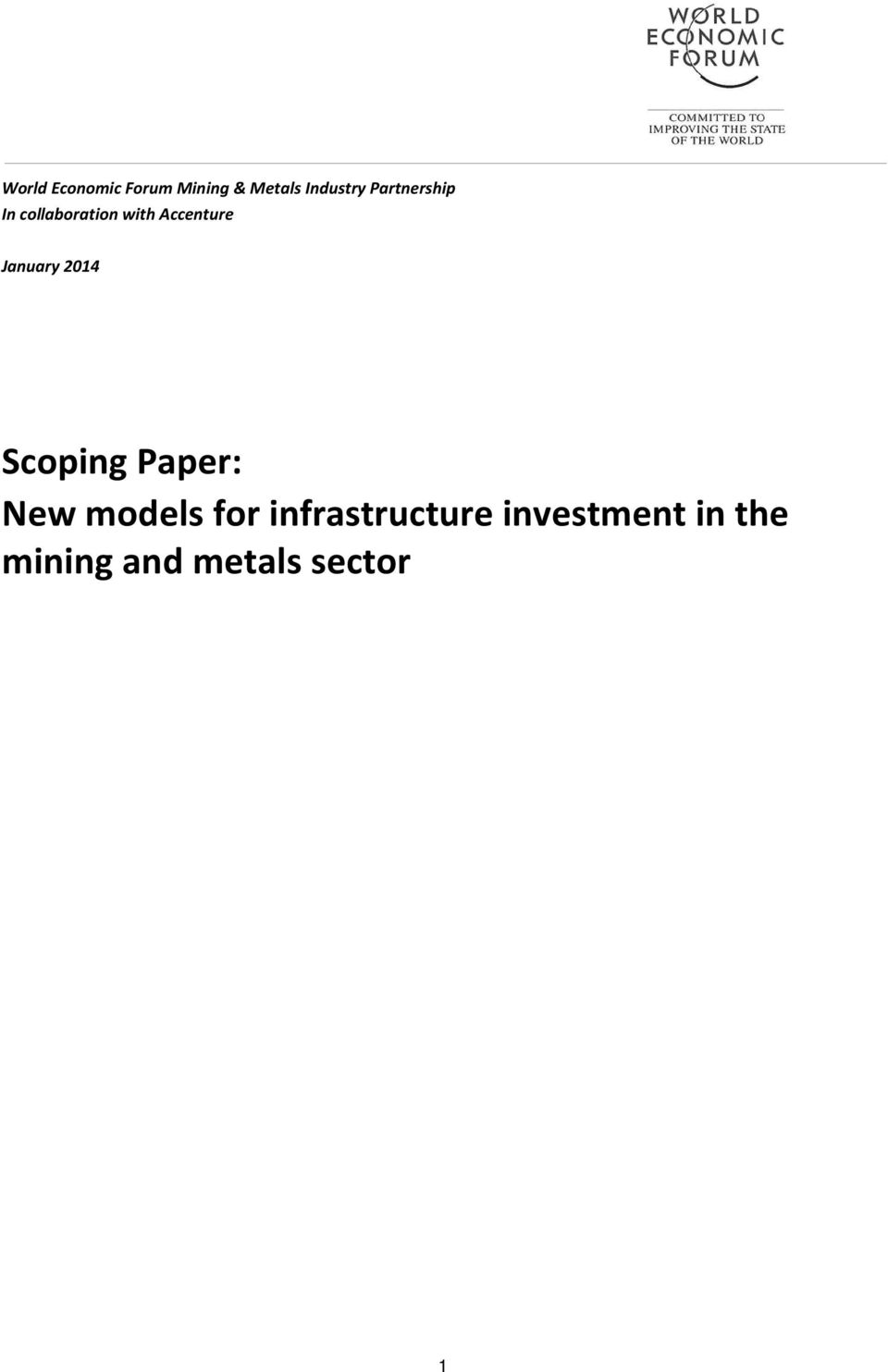 Accenture January 2014 Scoping Paper: New