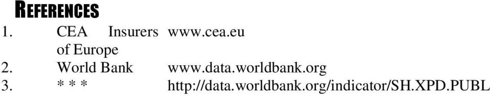 worldbank.org 3. * * * http://data.