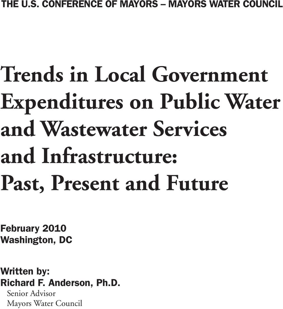 Expenditures on Public Water and Wastewater Services and