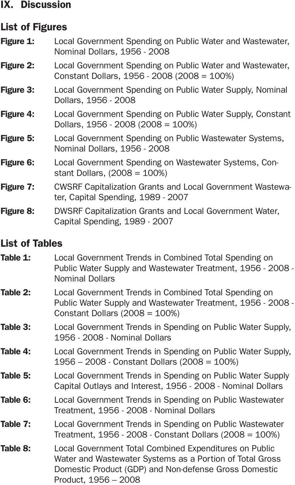 Dollars, 1956-2008 (2008 = 100%) Figure 5: Local Government Spending on Public Wastewater Systems, Nominal Dollars, 1956-2008 Figure 6: Local Government Spending on Wastewater Systems, Constant