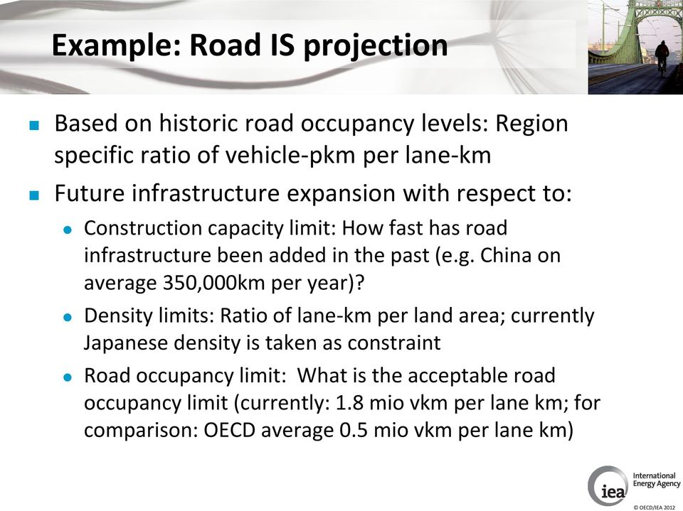 China on average 350,000km per year)?