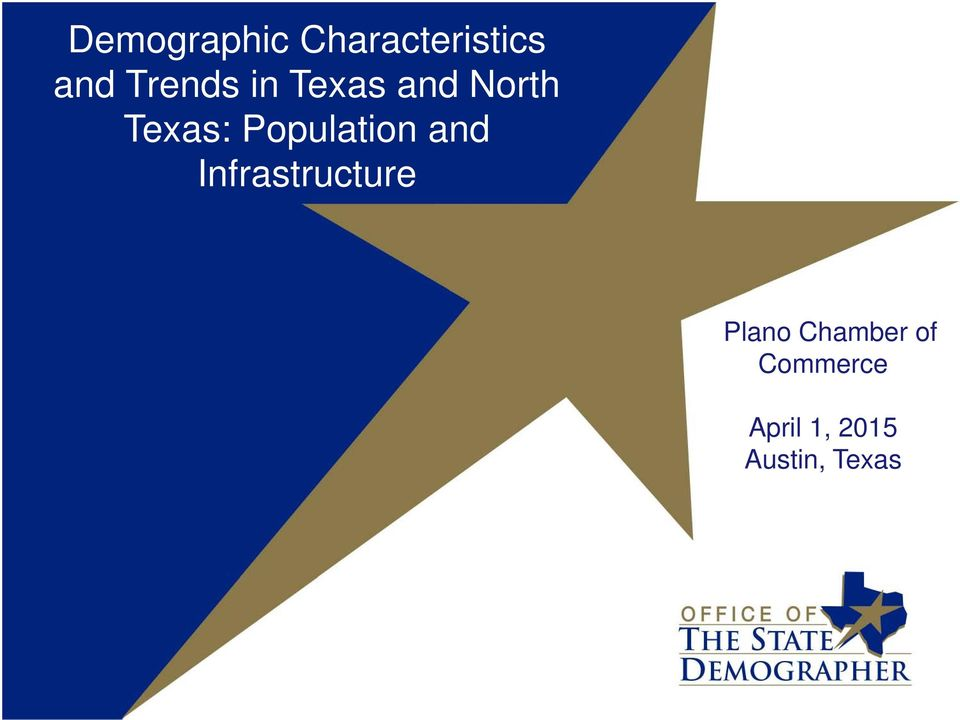 Population and Infrastructure Plano