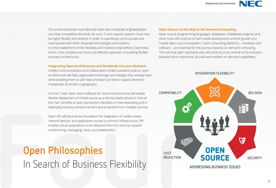It is the enablement of this flexibility and resilience that defines Openness, which is the simplest and most cost-effective approach to building flexible business architectures.