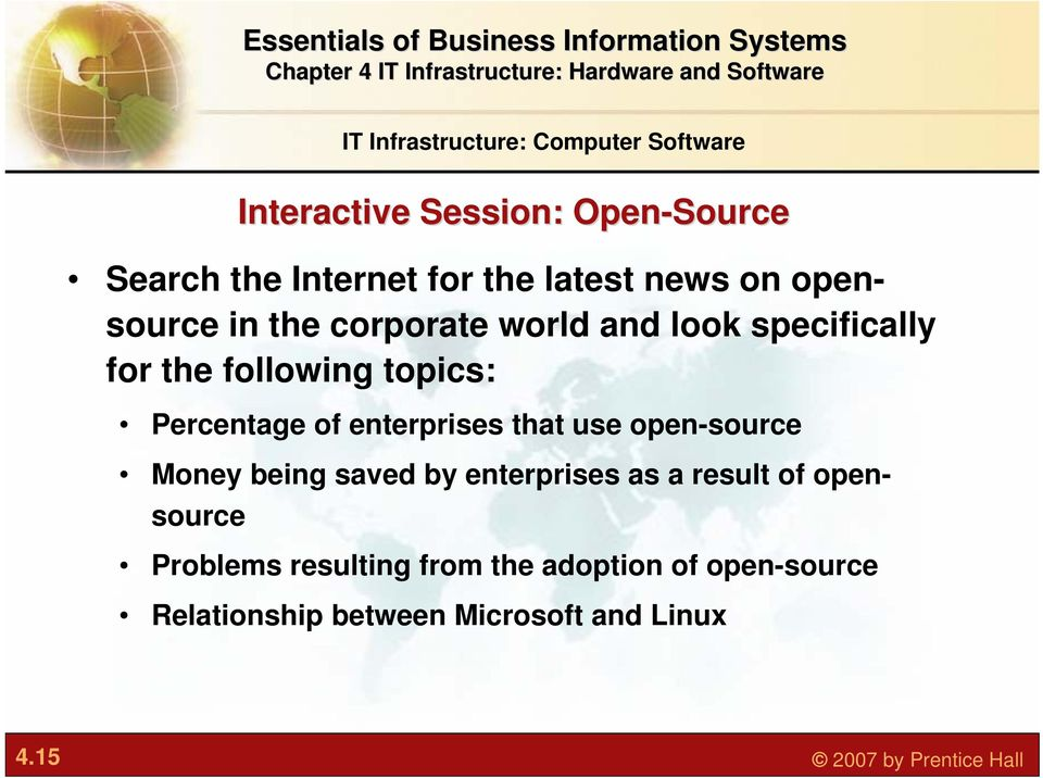 enterprises that use open-source Money being saved by enterprises as a result of opensource Problems