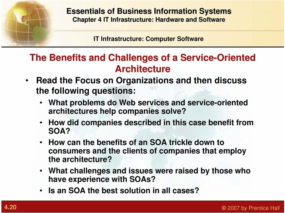 How did companies described in this case benefit from SOA?