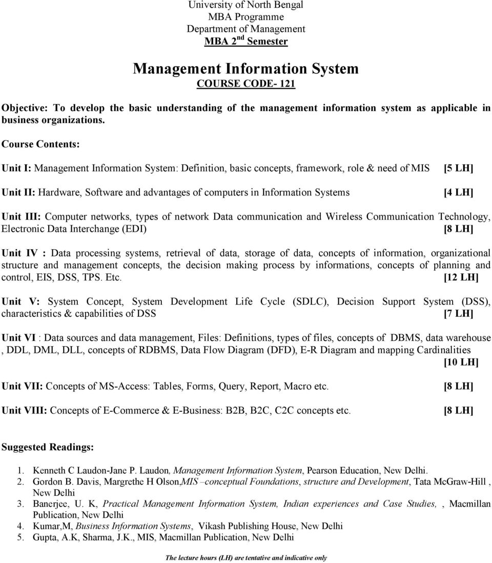 Computer networks, types of network Data communication and Wireless Communication Technology, Electronic Data Interchange (EDI) Unit IV : Data processing systems, retrieval of data, storage of data,