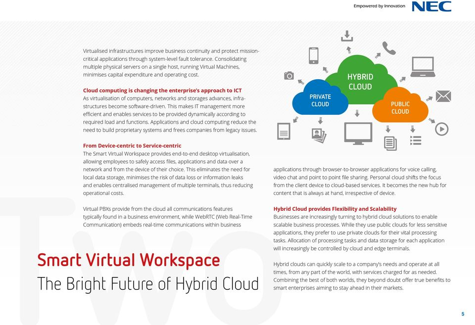 Cloud computing is changing the enterprise s approach to ICT As virtualisation of computers, networks and storages advances, infrastructures become software-driven.