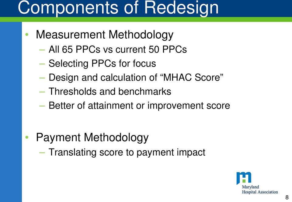 MHAC Score Thresholds and benchmarks Better of attainment or
