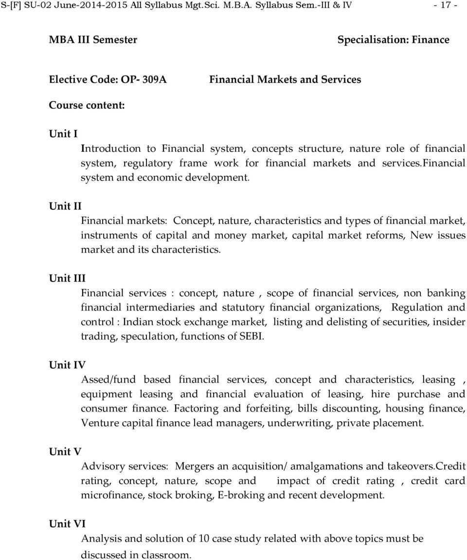 role of financial system, regulatory frame work for financial markets and services.financial system and economic development.