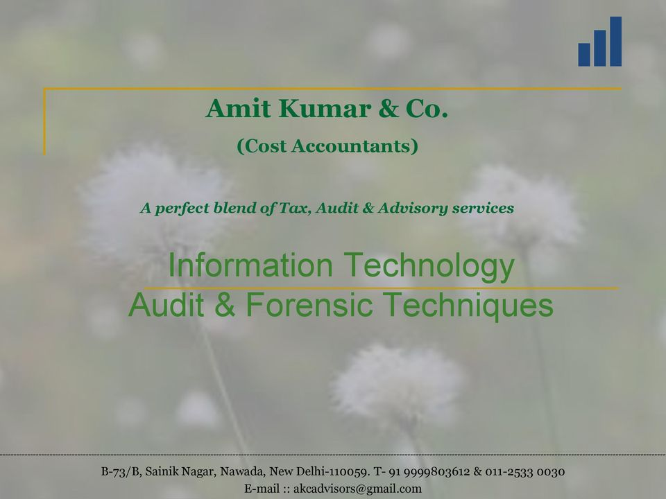 services Information Technology Audit & Forensic Techniques