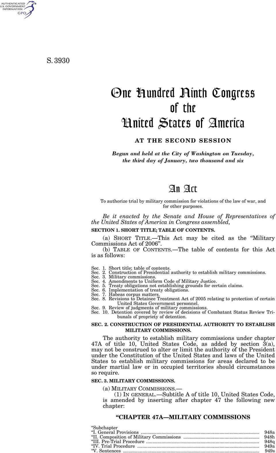 Be it enacted by the Senate and House of Representatives of the United States of America in Congress assembled, SECTION 1. SHORT TITLE; TABLE OF CONTENTS. (a) SHORT TITLE.
