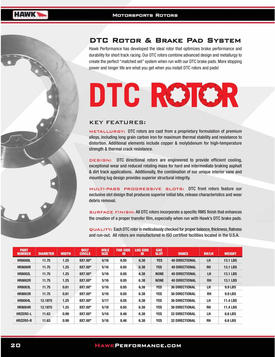 More stopping power and longer life are what you get when you install DTC rotors and pads!