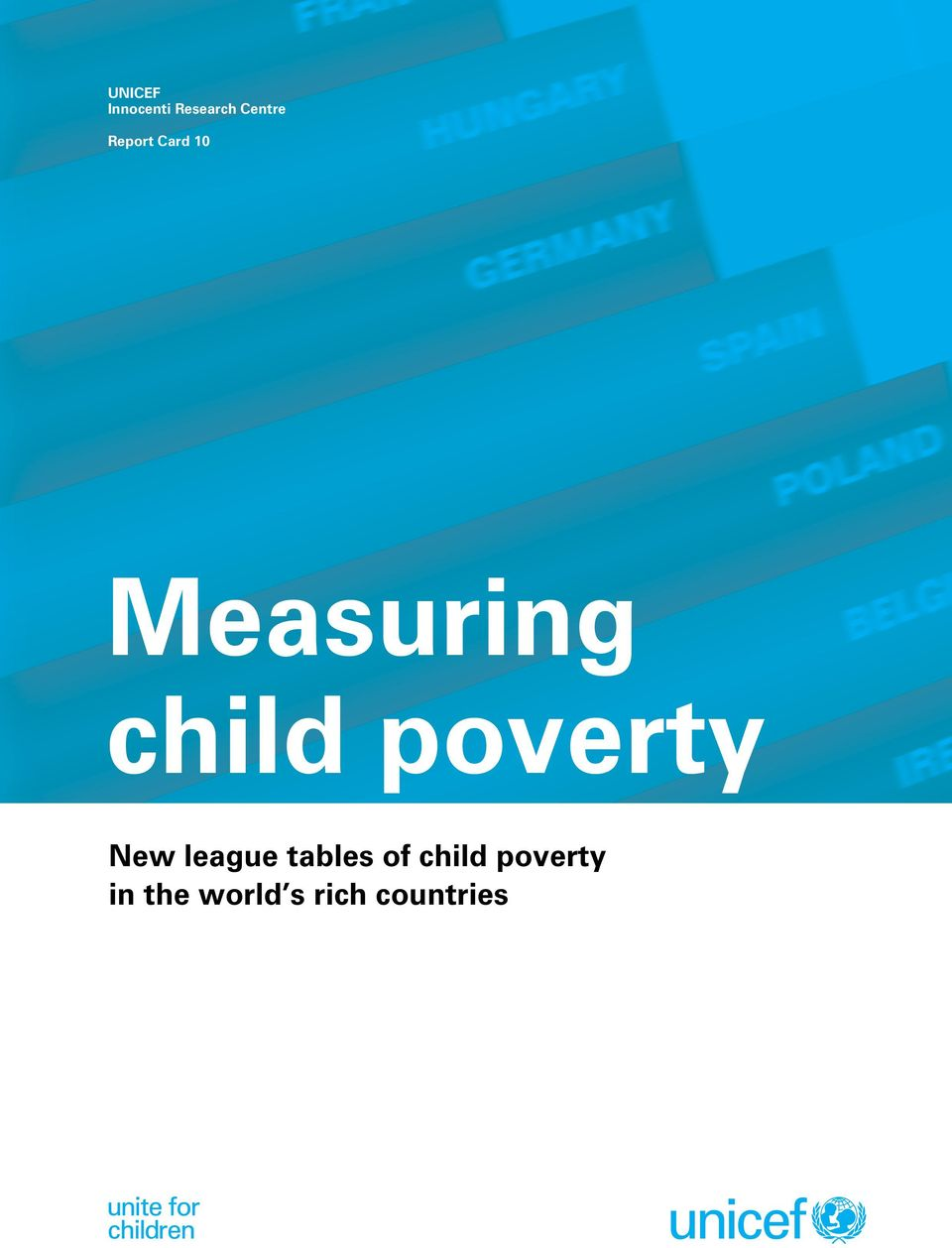 poverty New league tables of