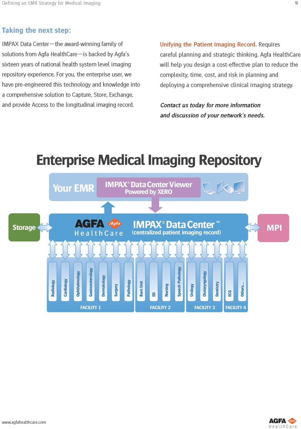 For you, the enterprise user, we have pre-engineered this technology and knowledge into a comprehensive solution to Capture, Store, Exchange, and provide Access to the longitudinal imaging record.