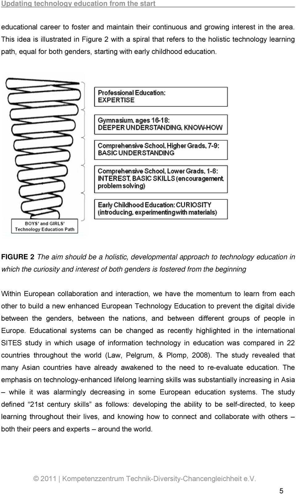 FIGURE 2 The aim should be a holistic, developmental approach to technology education in which the curiosity and interest of both genders is fostered from the beginning Within European collaboration