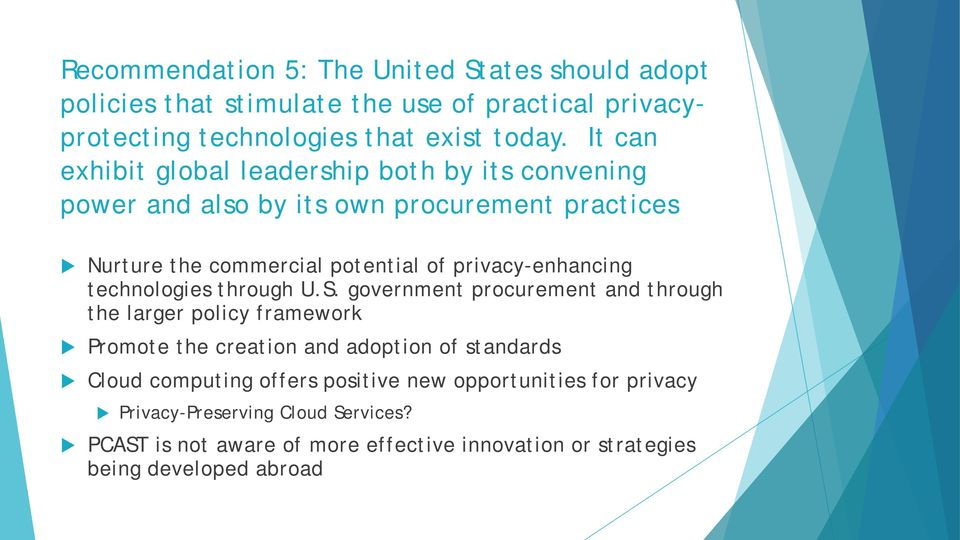 privacy-enhancing technologies through U.S.