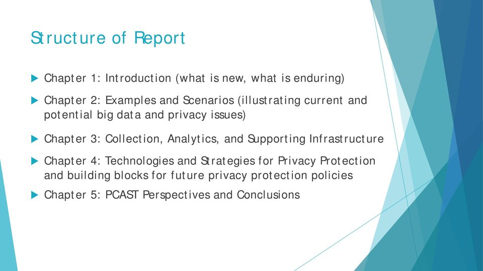 Analytics, and Supporting Infrastructure Chapter 4: Technologies and Strategies for Privacy