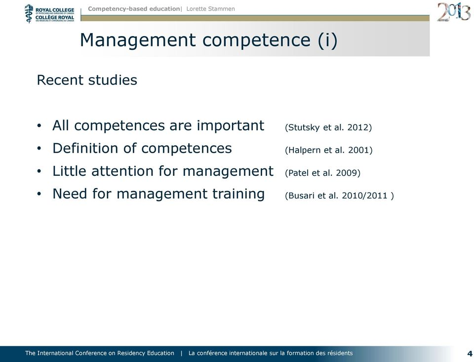 2012) Definition of competences (Halpern et al.