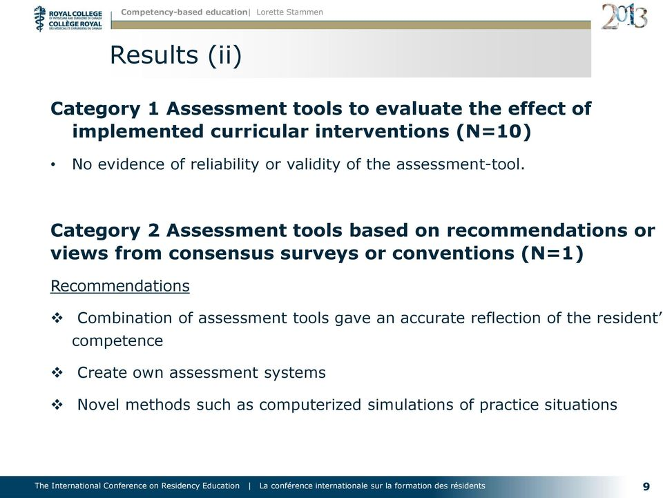 Category 2 Assessment tools based on recommendations or views from consensus surveys or conventions (N=1)