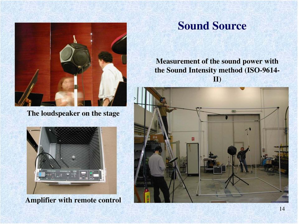 (ISO-9614- II) The loudspeaker on the