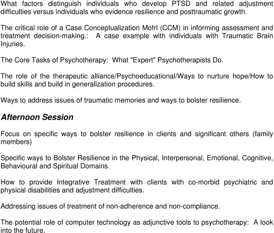 "The Core Tasks of Psychotherapy: What ""Expert"" Psychotherapists Do."