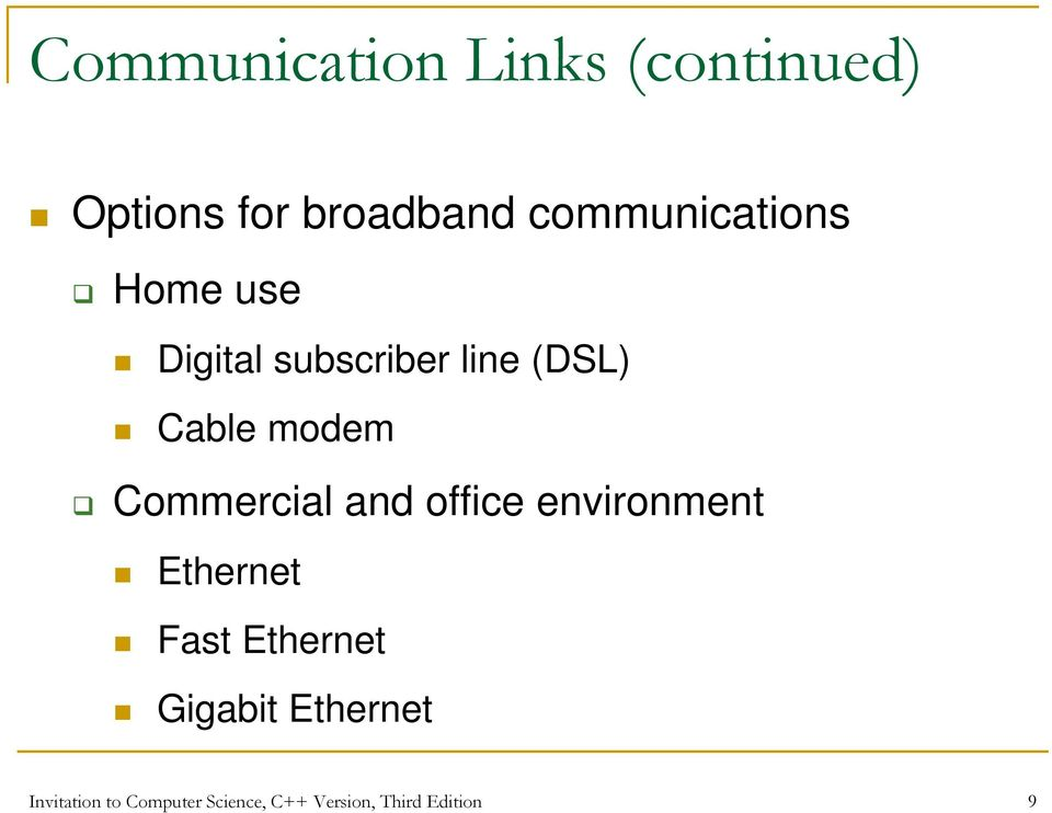 modem Commercial and office environment Ethernet Fast Ethernet