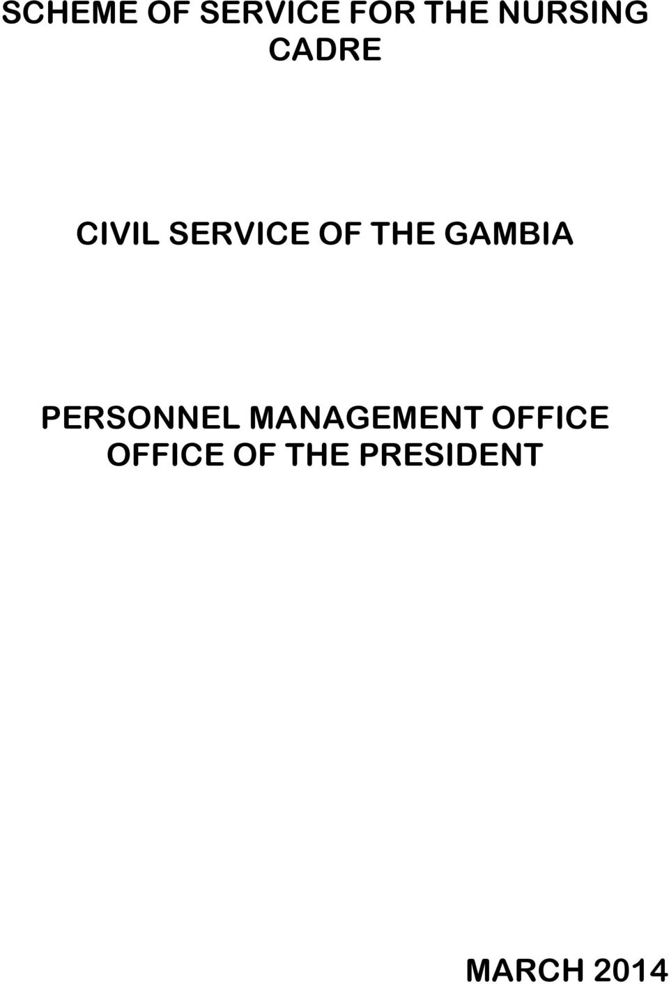 THE GAMBIA PERSONNEL MANAGEMENT