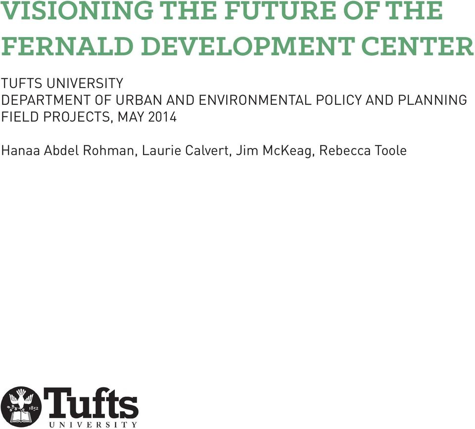 ENVIRONMENTAL POLICY AND PLANNING FIELD PROJECTS, MAY